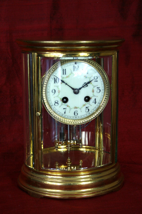 French Four Glass Oval Parisian Regulator Clock