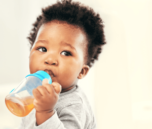 How to transition your one year old to a sippy cup.