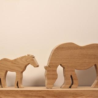 Cheval breton en bois