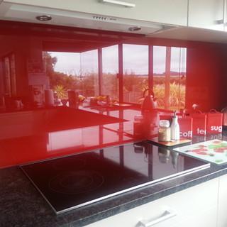 Painted Splashback - Red