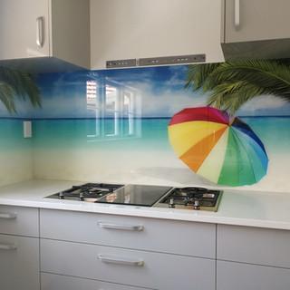 Printed Splashback -  Sun umbrella