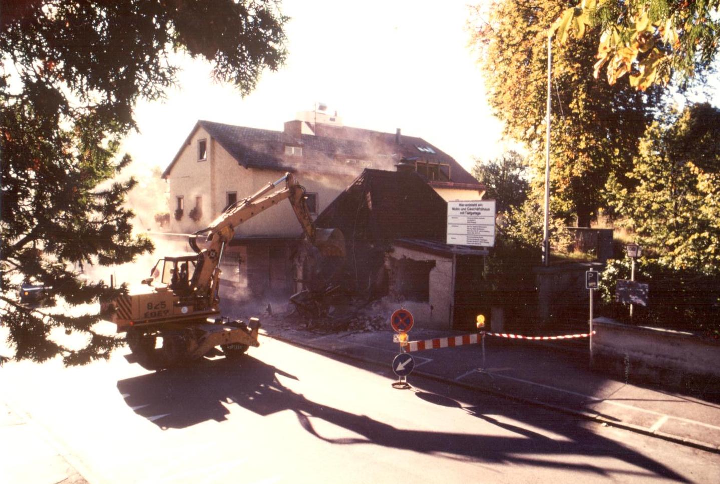 Abriss Kiosk 1988