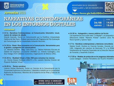 Jornadas 2021 Narrativas Contemporáneas en los Entornos Digitales