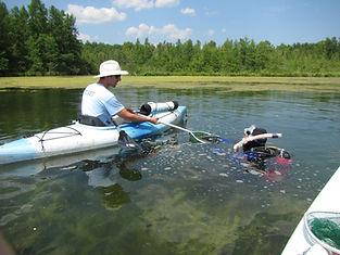 Paul assisting diver spring lk EWM 08081