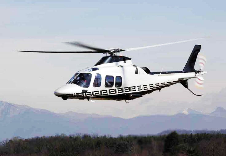the Versace group teamed up with the AgustaWestland in 2008. The Versace leather interior and the pattern on the outside are used in the helicopter.