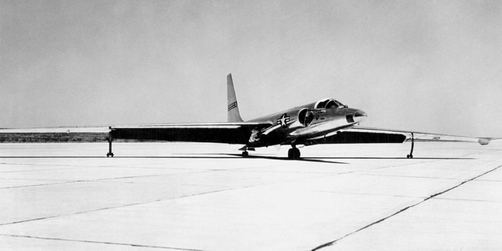 The U-2 high altitude reconnaissance aircraft, in the late 1950s