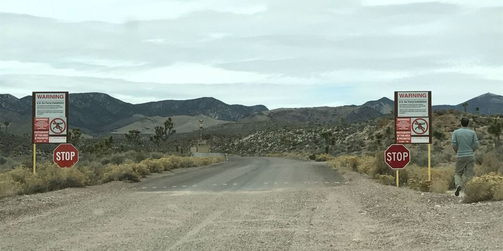 Road Leading To Area 51