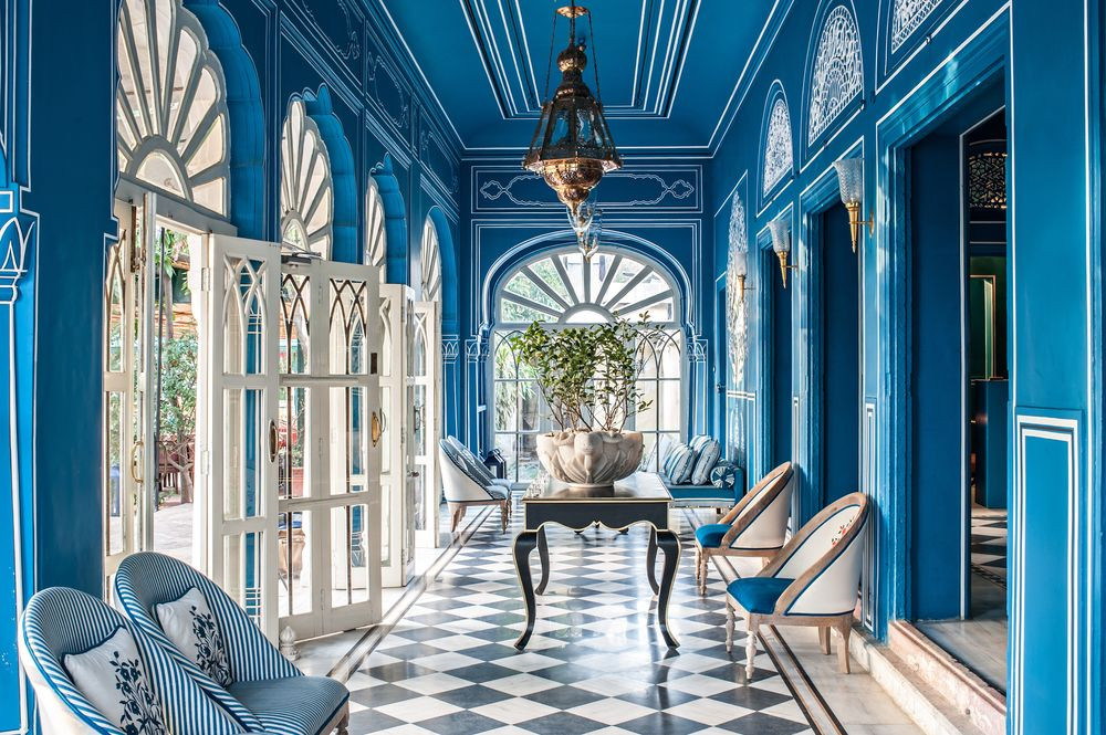Inspired by Venice's famous Caffé Florian and Harry's Bar, Bar Palladio Jaipur got its name from Andrea Palladio, a Golden age architect.