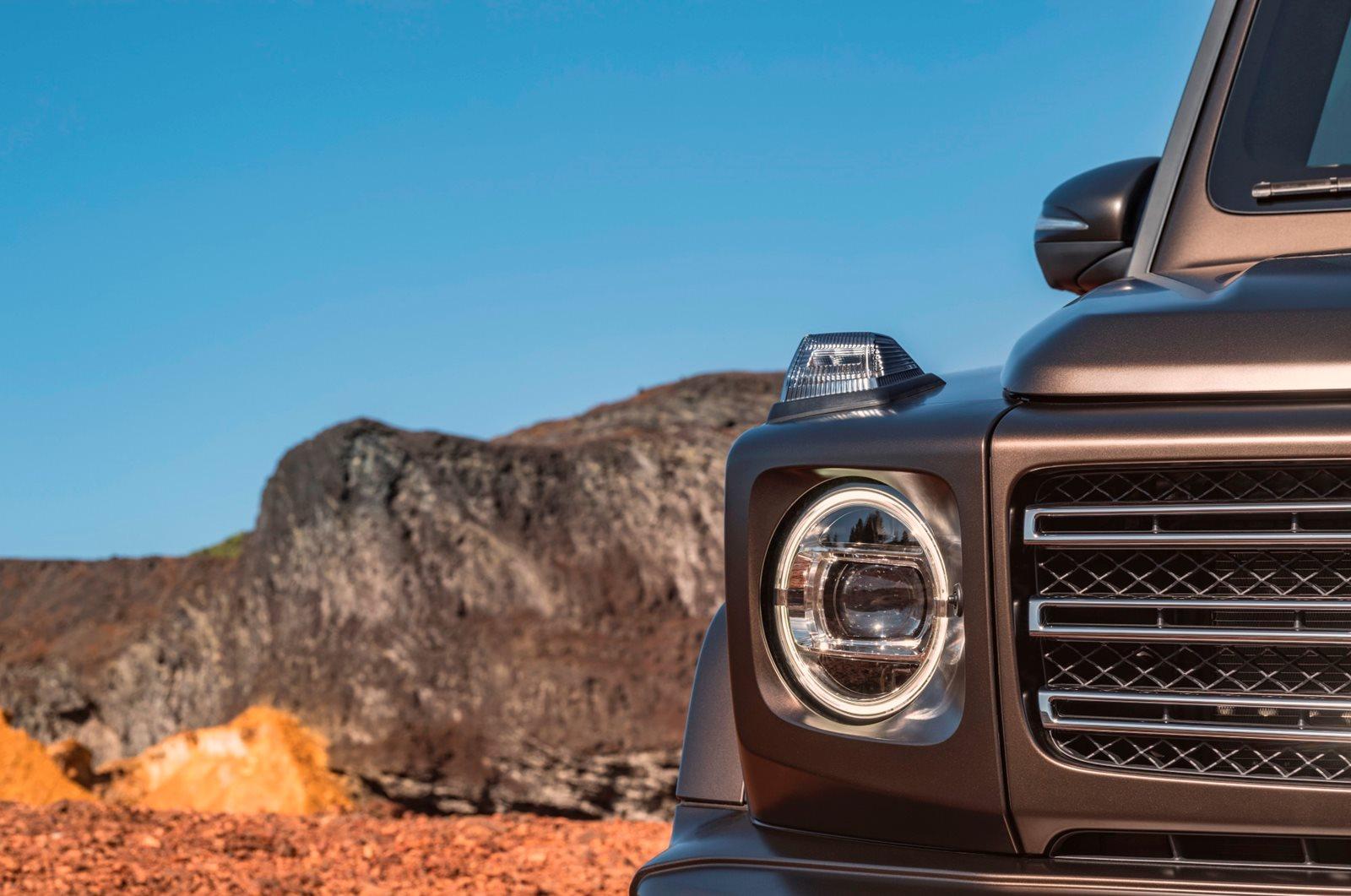Mercedes G-Class Round LED Headlights