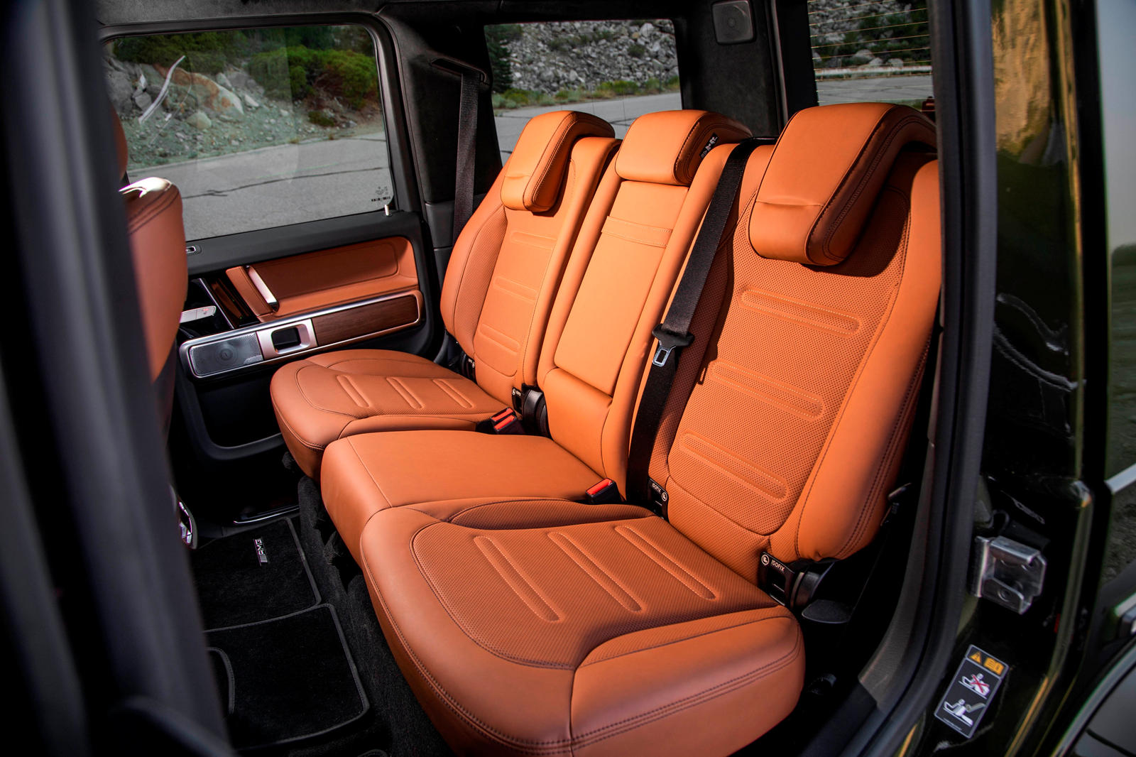 Mercedes G-Class Nappa leather upholstery
