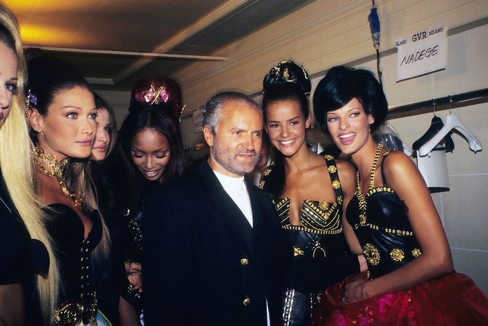 Gianni Versace was one of the first designers to connect fashion to the music world.