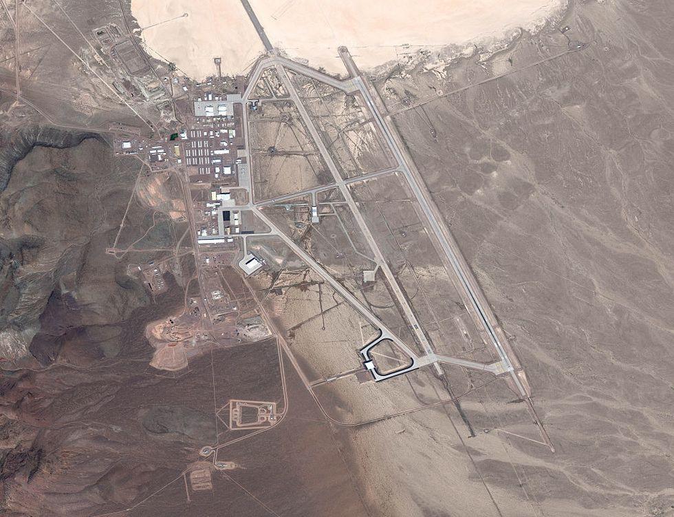 Satellite View Of Area 51