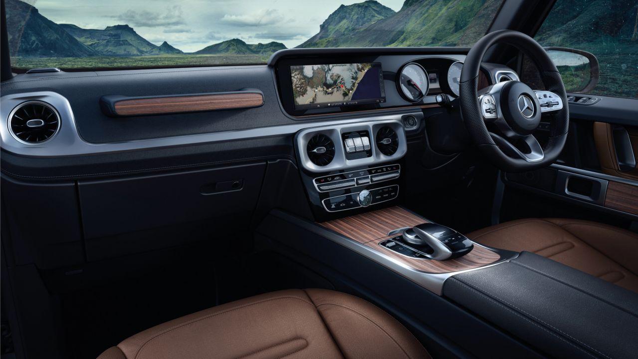Mercedes G-Class 12.3-inch infotainment