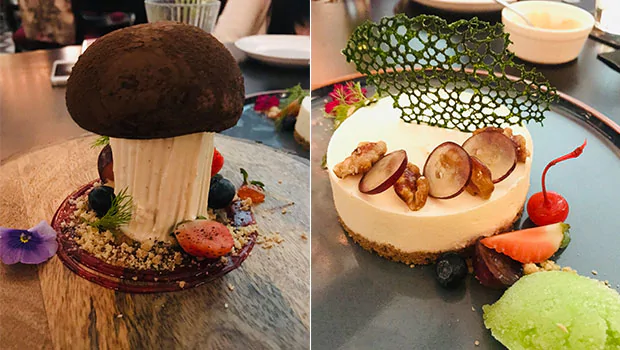 Chocolate Mushroom, Belgian Praline and Apple Crumble Cheese Cake