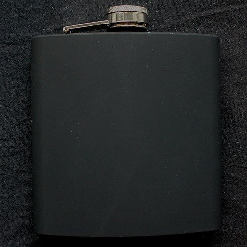 Flachmann ca. 450 ml schwarz matt mit individueller Gravur