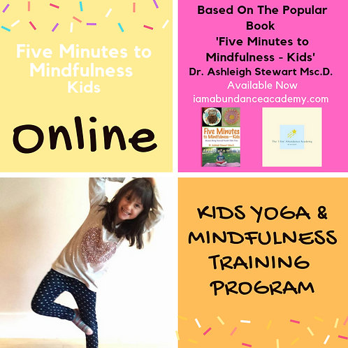 Five Minutes to Mindfulness Kids - Online Kids Yoga & Mindfulness Training