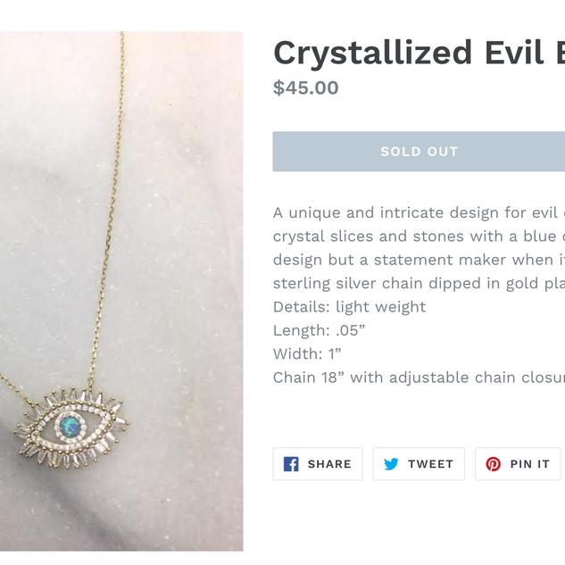 Product Description - Jewelry