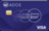 ADOS VISA debit card VISA network ATMs worldwide