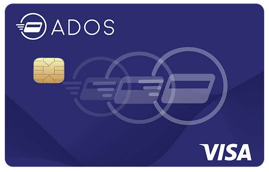 ADOS VISA debit card VISA network ATMs worldwide
