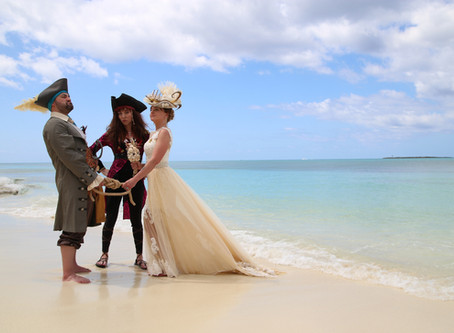 Pirates Get Married in The Bahamas