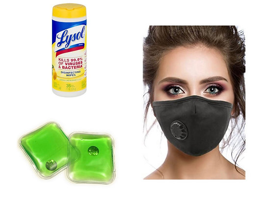 Lysol small Wipes Kills 99.99% of Bacteria, PM2.5 Face Mask and Hand Warmers