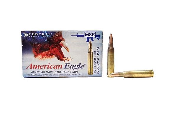 Federal 5.56mm NATO 55 Grain FMJ 20 per Box