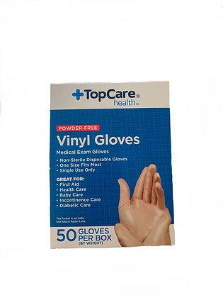 Disposable Medical Exam Gloves Vinyl Gloves 50 pieces