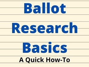 Ballot Research Basics