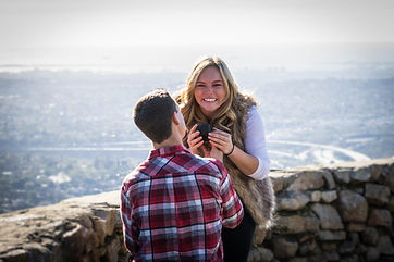 Engaged at Mt Helix Park photo by Rebekah Atkinson