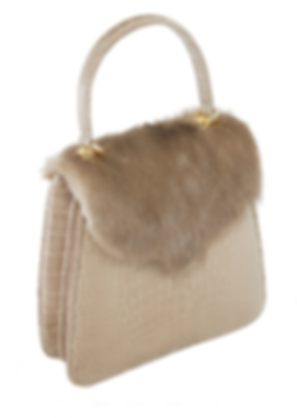 Princess Diana Taupe Alligator Mink Flap