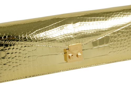 Concord Clutch Gold Alligator
