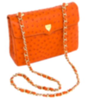 Medium Chain Bag Tangerine Orange Ostric
