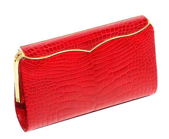 Ruby Alligator Cleopatra Clutch.png
