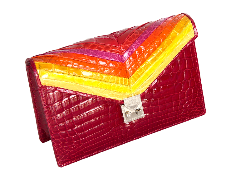 Mosaic Collection Citrus Clutch