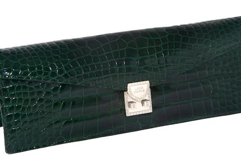 Concord Clutch Green Alligator