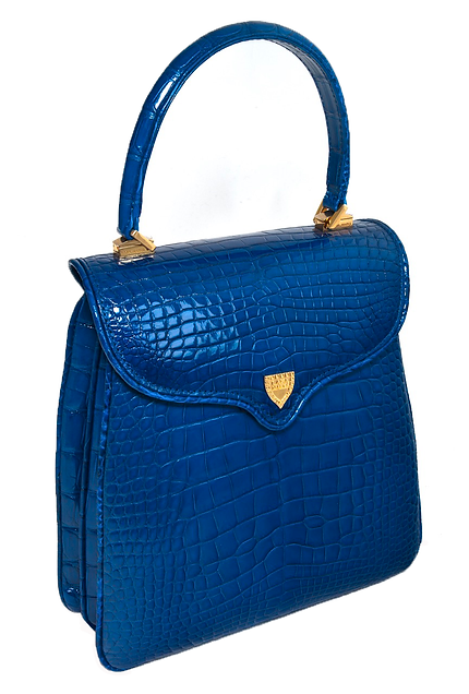 Princess Diana Electric Blue Alligator.p