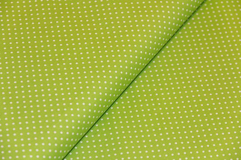 Judith, grün mit weissen Punkten