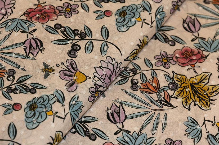 Baumwolle Lightrosa mit Blumenprint