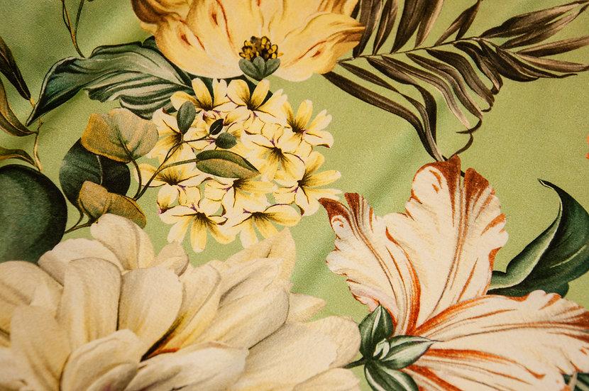 Viscose mit Blumendruck