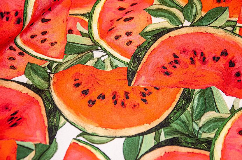 Viscose mit Melonendruck