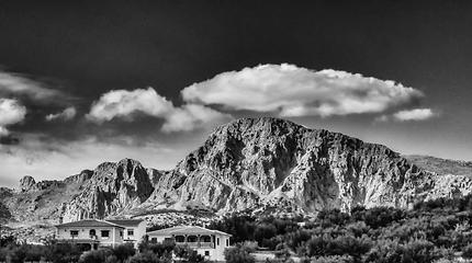 Landscape in Periana, Spain