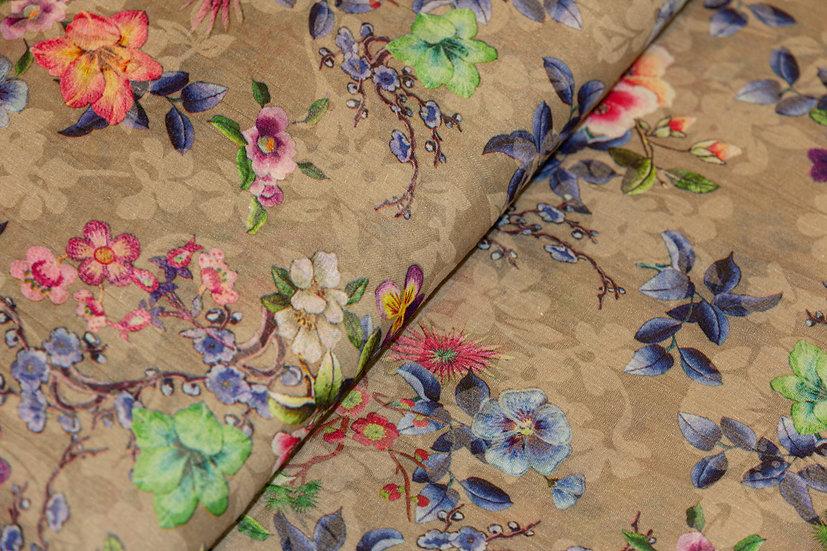 Polyester/Baumwolle schlamm mit Blumenprint