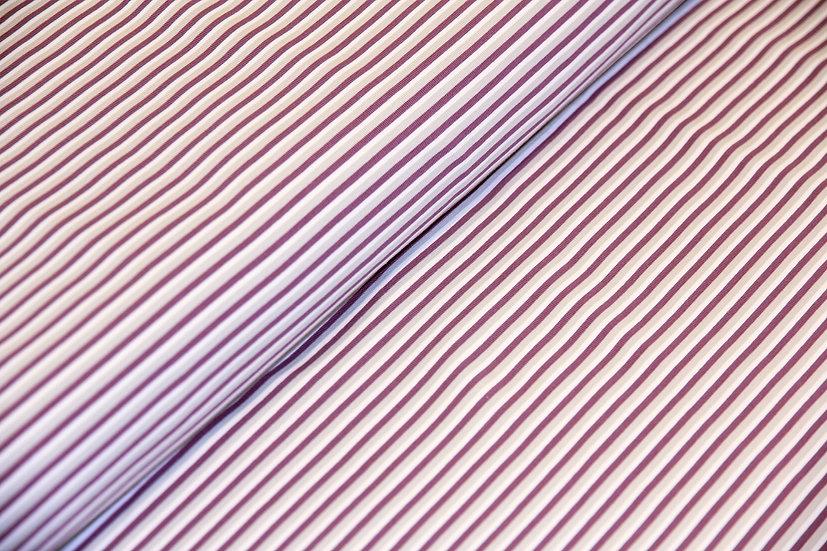 Jersey Baumwolle, flieder/hellgrau/ecru gestreift