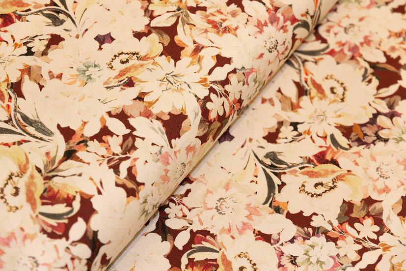 Baumwolle ecru mit Blumenprint