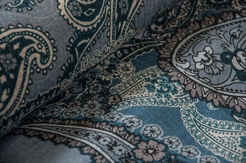 Wolle mit Paisley