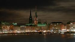 Hamburg, Binnenalster, Rathaus