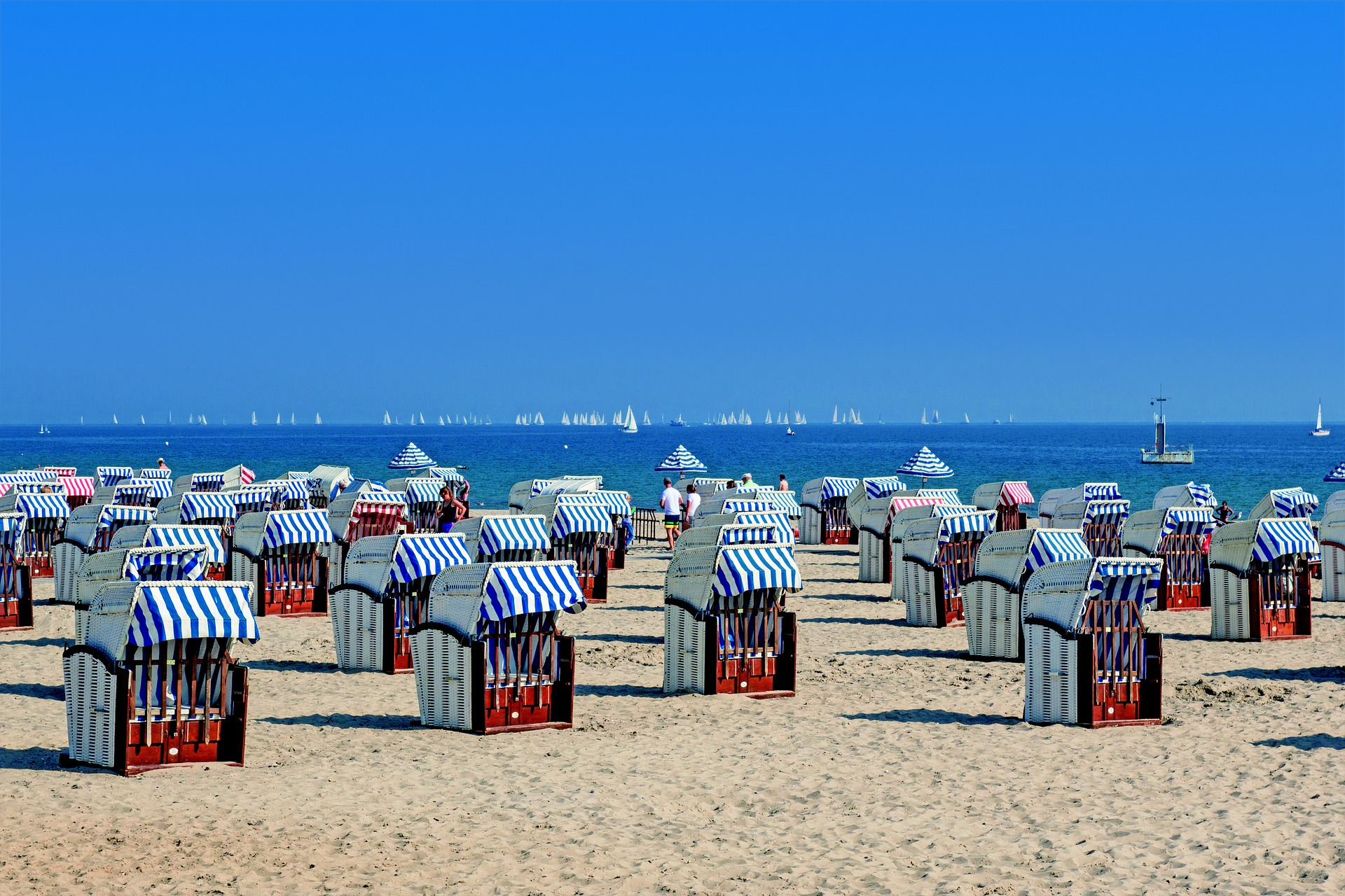 Baltic Sea, Roofed Beach Chairs