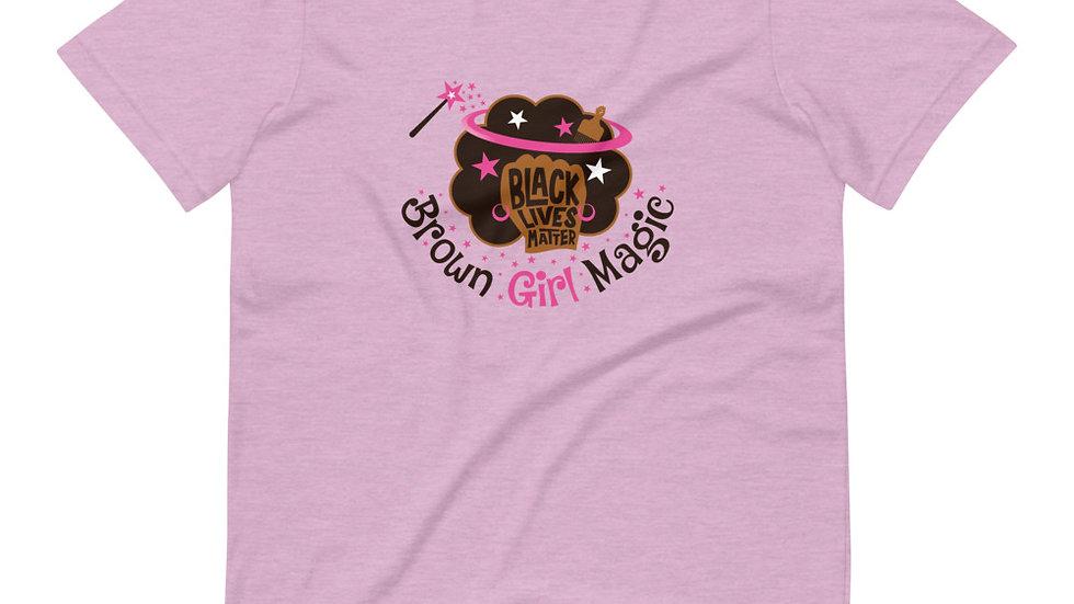 Brown Girl Magic X Black Lives Matter - Short-Sleeve Unisex T-Shirt