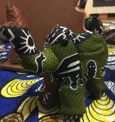 Stuffed Fabric Elephant