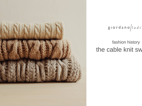 fashion history – the cable knit sweater